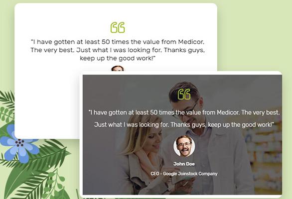 Bos Medicor PrestaShop Pharmacy Template - Smart Pharmacy Store Testimonial Showcase