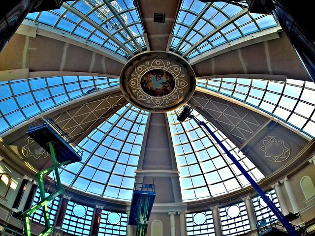 The new dome over Barton Square at the Trafford Centre in Manchester