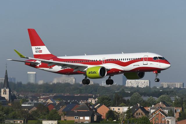 YL-CSL Airbus A220-300 EBBR 14-05-19