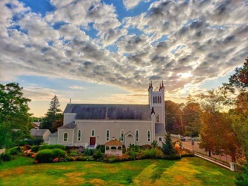 northfork clouds sunset galaxys9 2019 august2019 catholic instagram church cameraphone greenport faved heylookatthis myfave longisland
