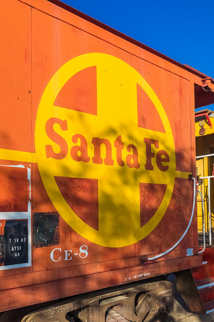Santa Fe Caboose on Display at Western America Railroad Museum in Barstow, California