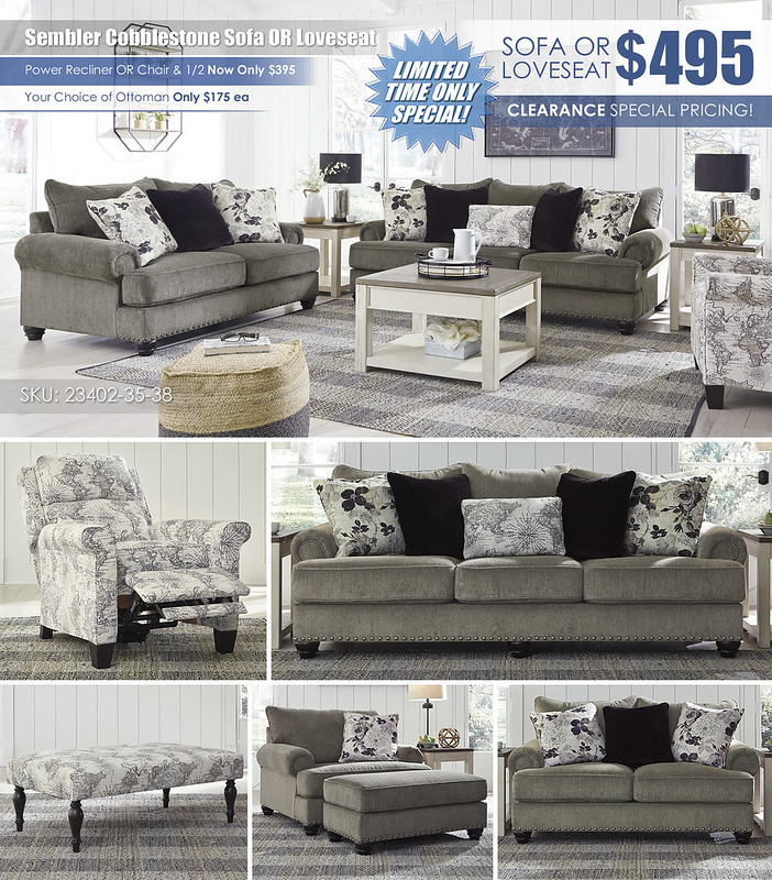 Sembler Cobblestone Sofa OR Loveseat Layout Special_23402-38-35-03-T751