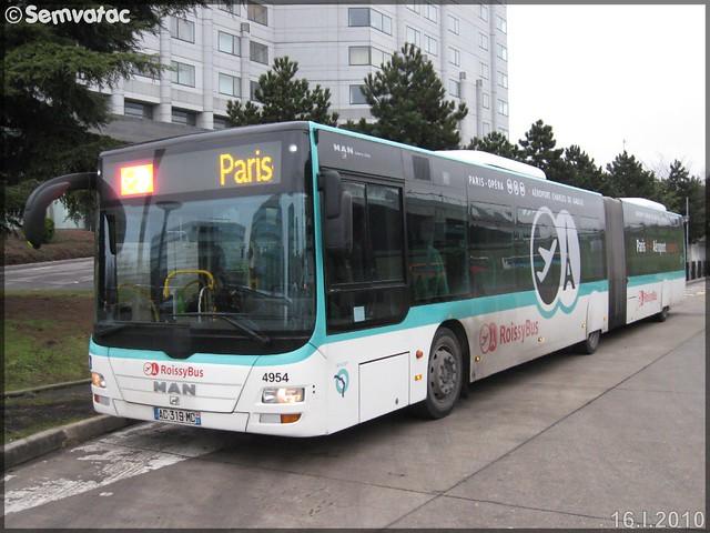 Man Lion's City GL – RATP (Régie Autonome des Transports Parisiens) / STIF (Syndicat des Transports d'Île-de-France) n°4954