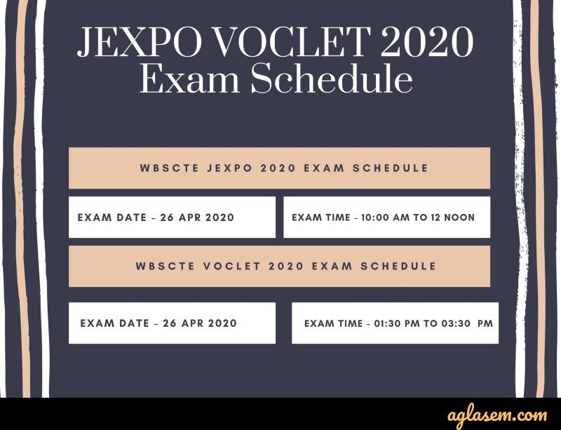 JEXPO and VOCLET 2020 exam schedule