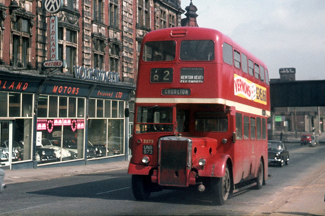 Manchester City Transport . 3573 UNB573 . Oldham , Lancashire . Monday 01st-September-1969 .