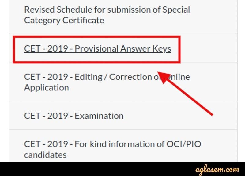 KCET 2020 Answer Key