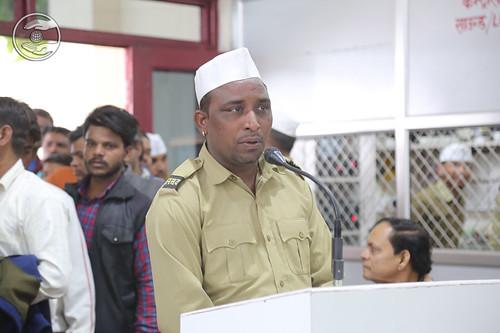 Sewa Dal volunteer expresses his views