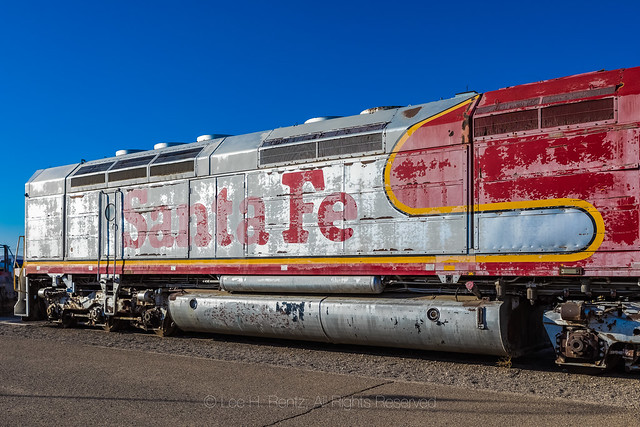 Santa Fe FP45 on Display at Western America Railroad Museum in Barstow, California