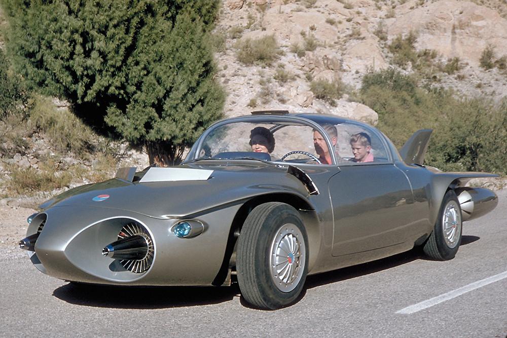 The 1956 Firebird II concept car