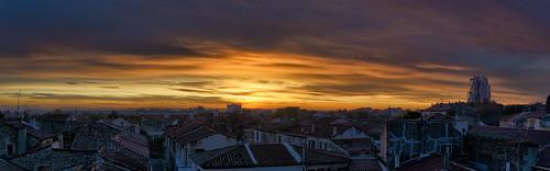 arles leverdujour sunrise toits rooftops panoramic d800