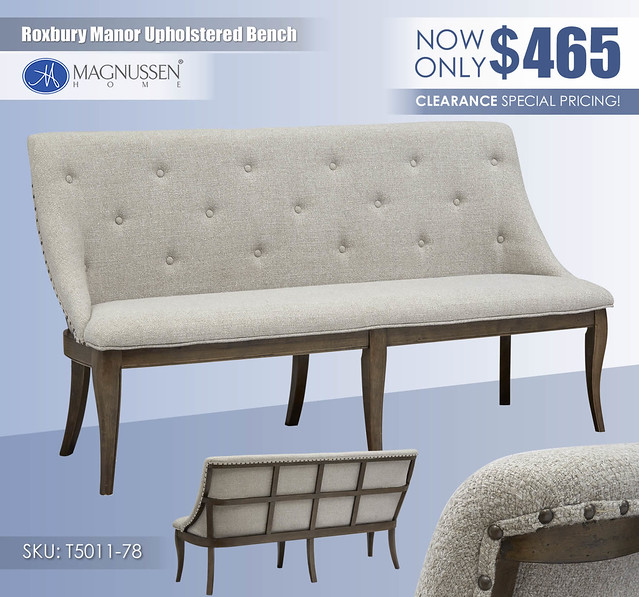 Roxbury Manor Upholstered Bench_D5011-78