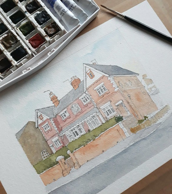 A watercolour underway