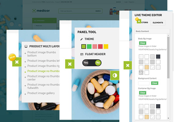 Bos Medicor PrestaShop Pharmacy Template - Custom Admin Panel