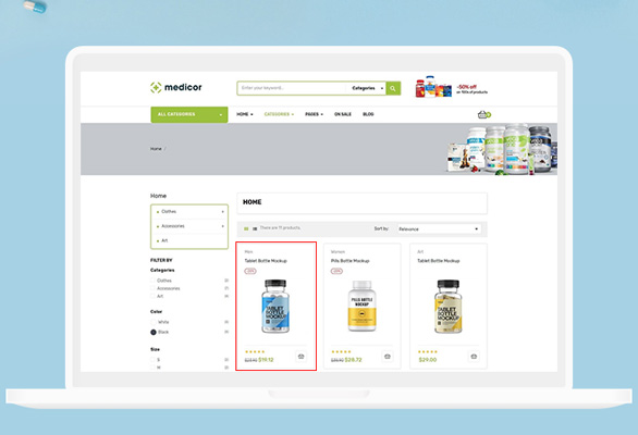 Bos Medicor PrestaShop Pharmacy Template - Intuitively Stunning Product Pages Showcase