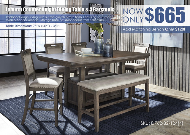 Johurst Counter Height Dining Table & 4 Bartstools_D762-32-124(4)-09