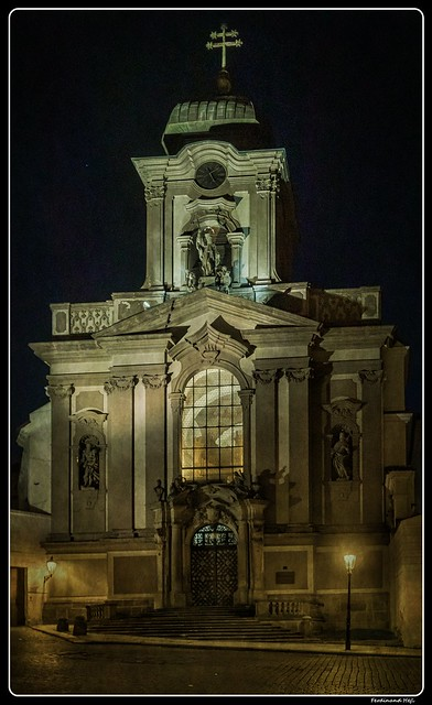 Praha - Prague_Vojenský kostel svatého Jana Nepomuckého na Hradčanech_Military Church of St. John of Nepomuk at Hradčany_Nový Svět_Praha 1 - Hradčany_Czechia