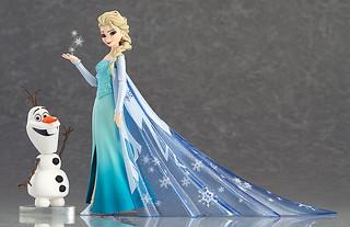 人氣不減的冰雪女王再度回歸!figma《冰雪奇緣》艾莎與雪寶 可動人偶(エルサ ふぃぐま えるさ)【再販】
