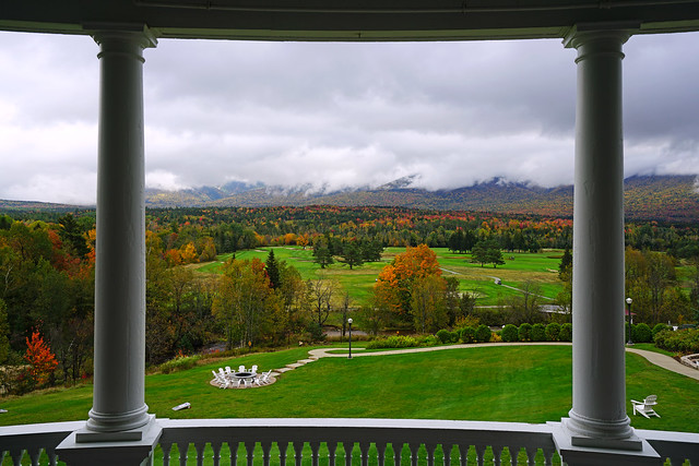 Stunning view from the balcony of Omni Mount Washington Resort, New Hampshire
