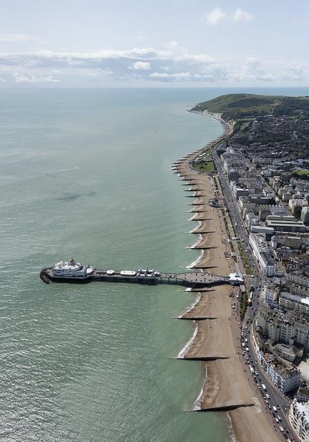 Eastbourne aerial image