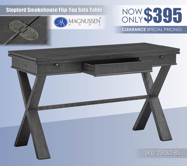 Stepford Smokehouse Flip Top Sofa Table_T5060-85