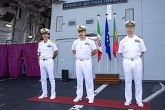 R.Adm. Giovanni Battista Piegaja  (center),R. Adm. Armando Paolo Simi (left), Cdre. José António Vizinha Mirones (right)