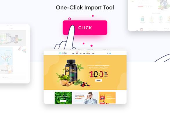 Bos Medicor PrestaShop Pharmacy Template - Quickly One-click Demo Import
