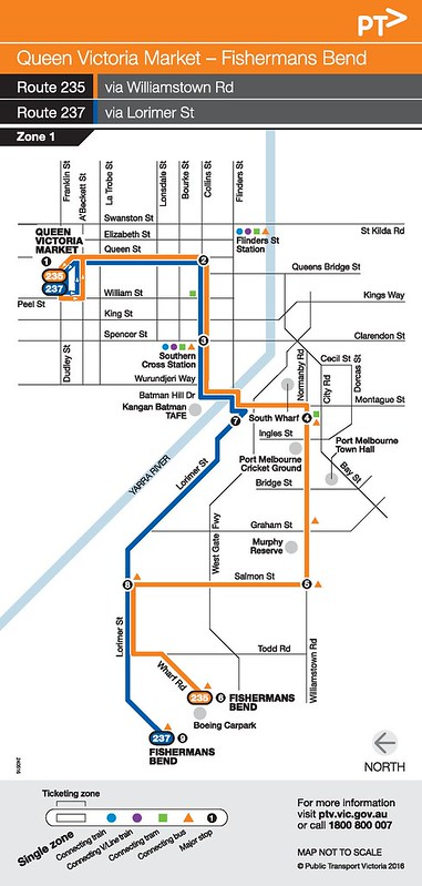 Bus 235/237 route map (PTV)