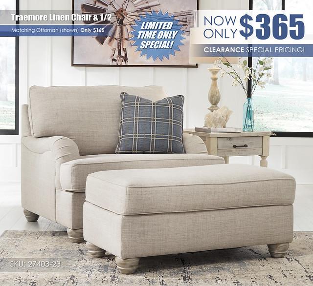 Traemore Linen Chair & Half Special_27403-23-14