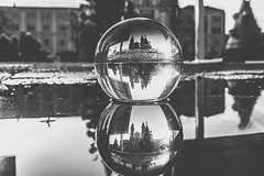 Kaunas Christmas Tree through a Glass Ball