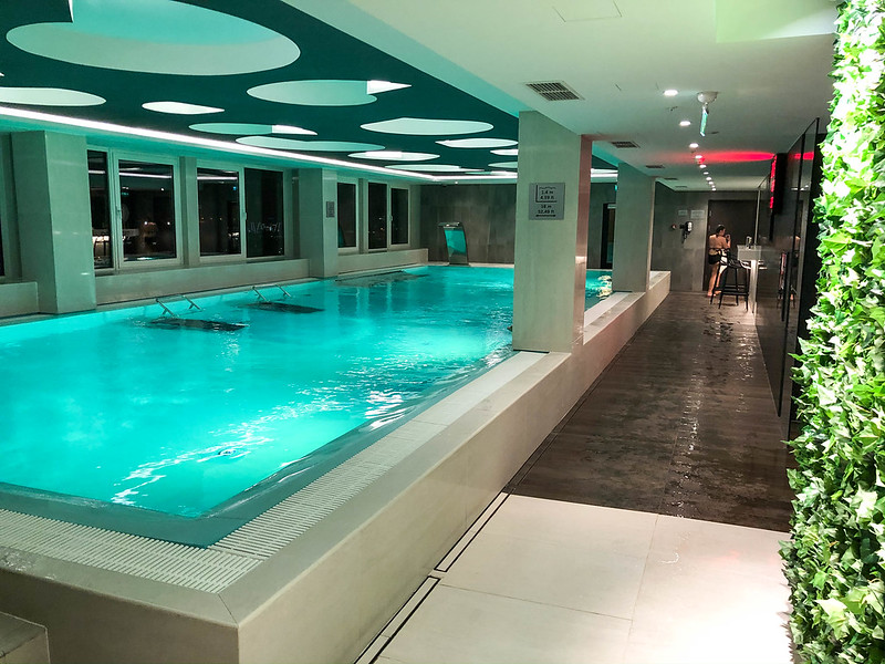 The hotel pool on 26th floor