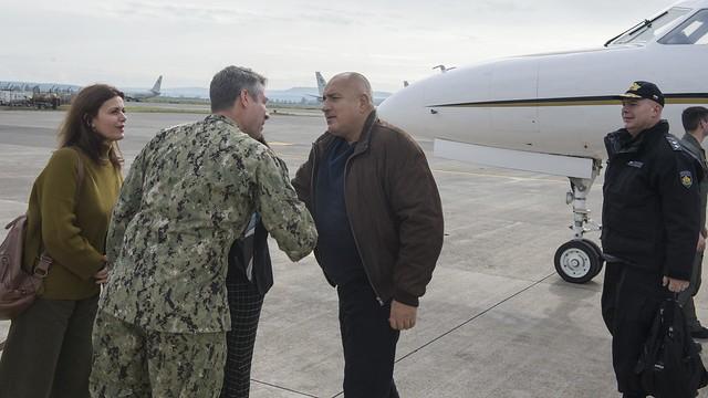Amassador Mustafa and Prime Minister Borissov on USS Harry S. Truman
