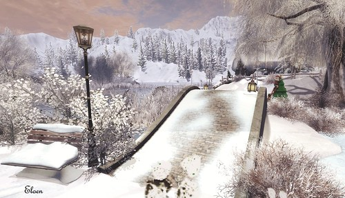 A snowy path