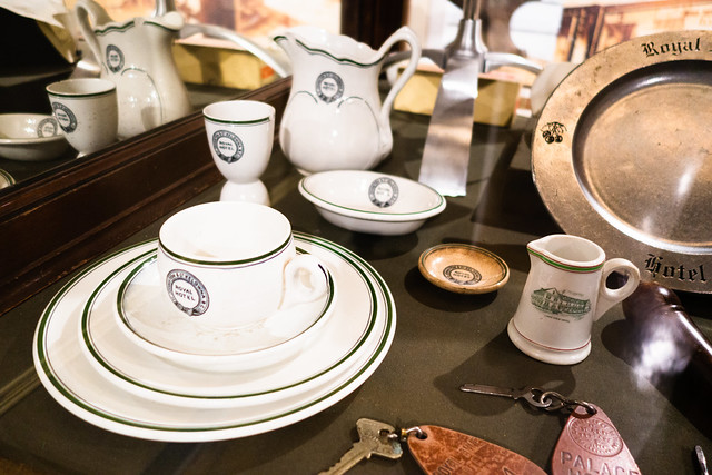 Antique dishes from the Kelowna Royal Hotel