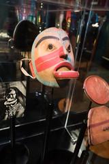 West Coast native mask with lipset