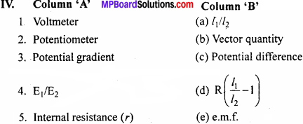 MP Board 12th Physics Important Questions Chapter 3 Current Electricity - 4