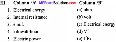 MP Board 12th Physics Important Questions Chapter 3 Current Electricity - 3