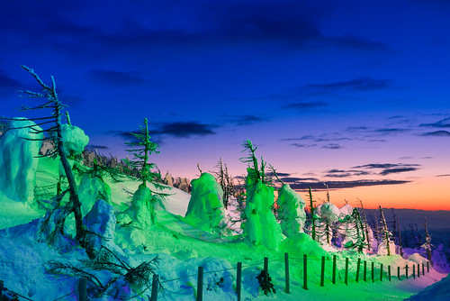 zao yamagata zaoropeway winterseason snowview forzentree juhyo japan ざおうれんぽう lighting snowmonster 日本 山形縣 藏王 藏王山麓站 藏王山頂站 樹冰 冬季 雪景
