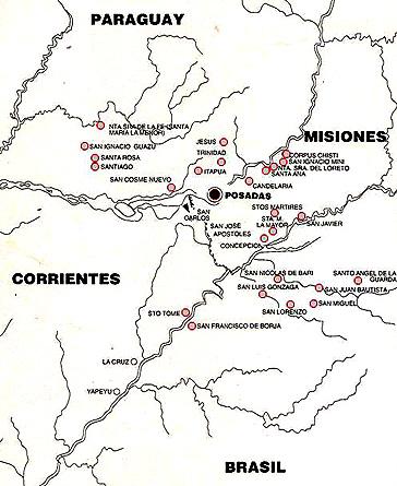 Mapa de Reducciones SJ
