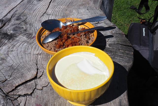 Buckwheat mush - 'restaurant' at Velika Planina
