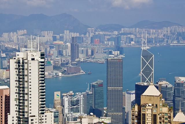 Hong Kong, vue de Victoria Peak.