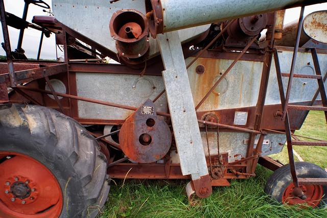Allis-Chalmers Gleaner A Baldwin combine harvester, c1956 - Country Heritage Park, Milton, Ontario ..