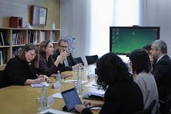 dt., 10/12/2019 - 11:55 - Barcelona 10.12.2019 Trobada de l'Alcaldessa, Ada Colau i Janet Santz, Tinenta d'alcaldía d'Ecologia, Urbanisme i Mobilitat, amb el President d'Aena, Maurici Lucena.   Foto: L.Guerrero/Ajuntament de Bcn.