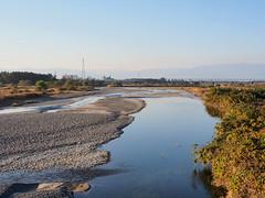 Yasugawa (野洲川) and Shinkansen (新幹線)
