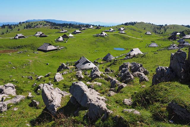 Velika Planina - looking down on Velika Planina