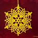 Crochet Pineapple Snowflake