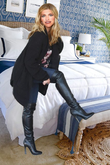 My new black over the knee boots