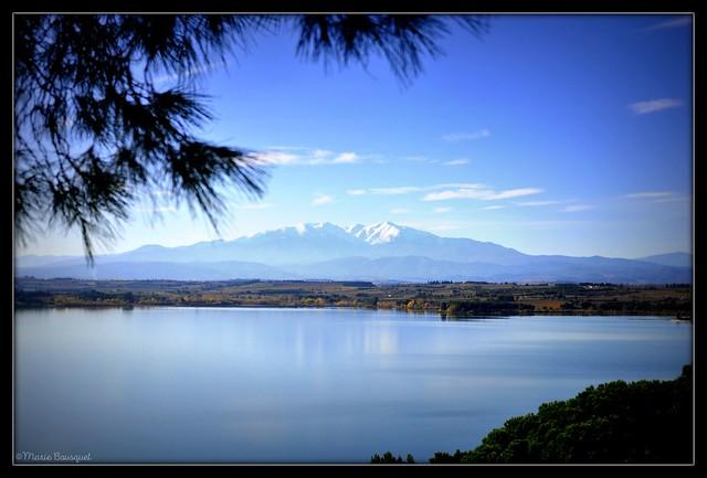 Le Canigou depuis les hauteurs du lac de Villeneuve-de-la-Raho