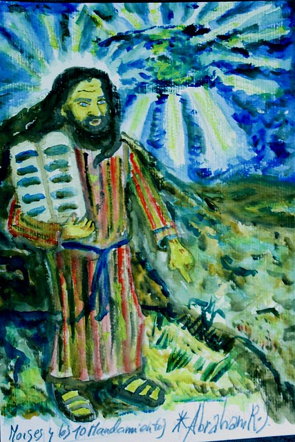 moises en el sinaí y los 10 mandamientos