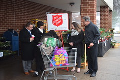 State Representatives John Fusco (R-81), Gale Mastrofrancesco (R-80), and State Senator Rob Sampson (R-16) volunteered to ring the bell for the Salvation Army raising money for local residents in need at the Southington Stop & Shop on December 9th.