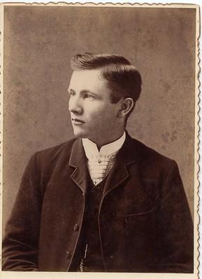 PB12 3a Ed Elliott taught in Bayfield School 1908-10 donated by Alma Bassett July 3 76